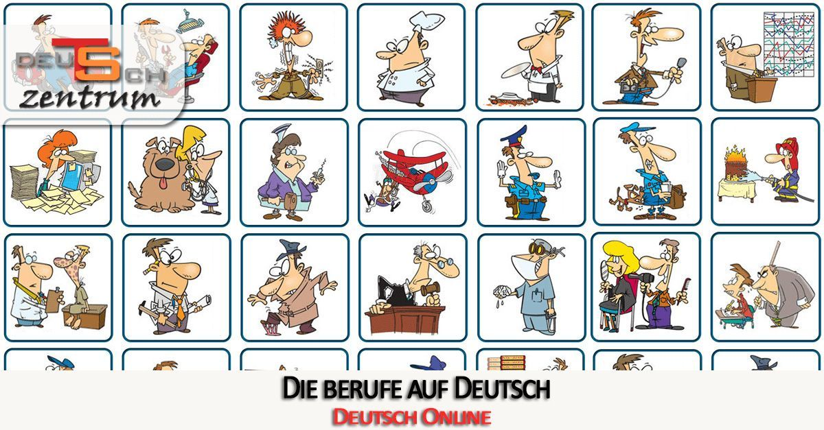 Professions in German - Berufe - Germancenter-ST