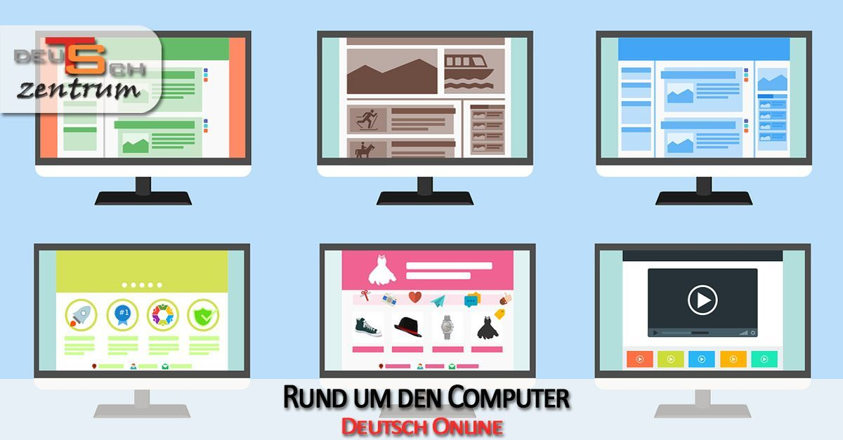 Computer, Computerteile und Software auf Deutsch