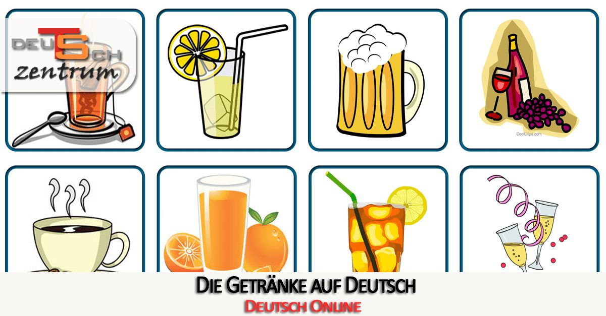 Typical drinks in German