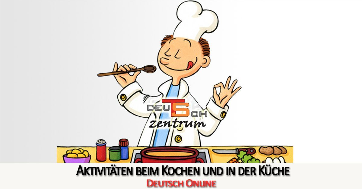 Activities in the kitchen in German - In der Küche