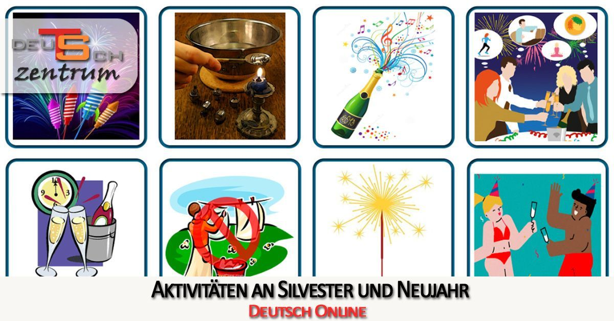 German vocabulary for New Year's Eve - Silvester