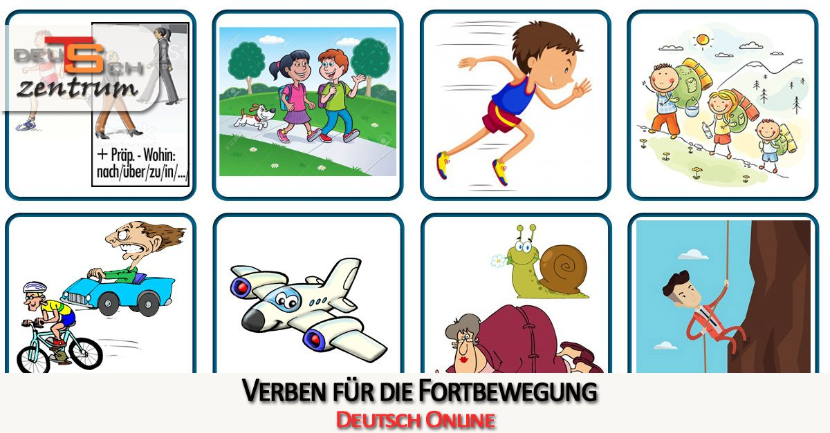 Verbs for movement in German - Verben zur Fortbewegung