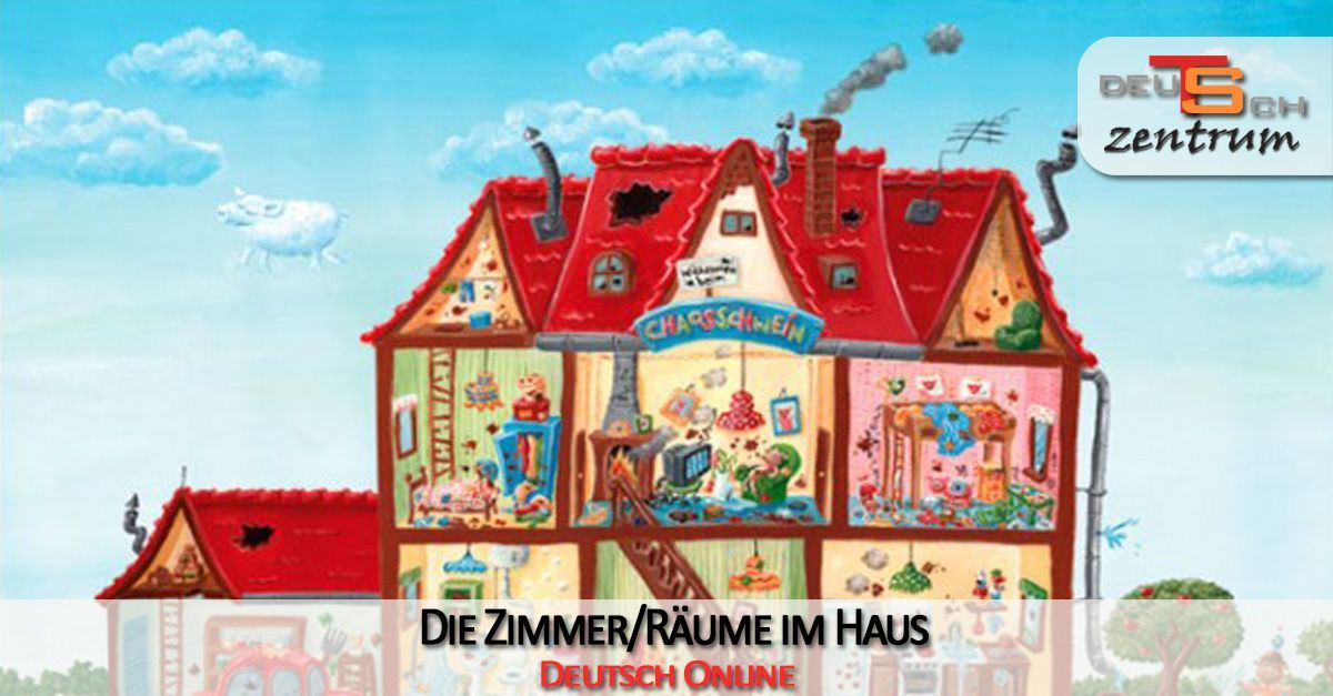 The rooms in the house in German - die Räume im Haus
