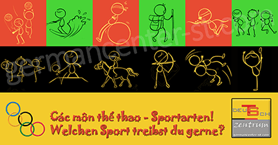 The sports in German - Sportarten
