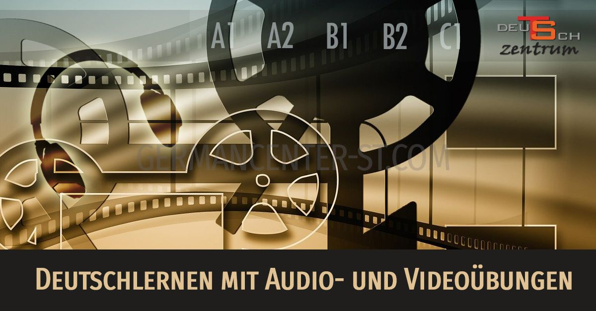 German with audio and video excercises